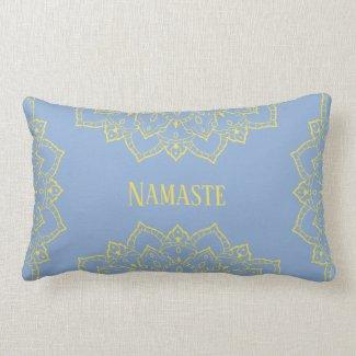 Yellow and Blue Mandala Lumbar Pillow