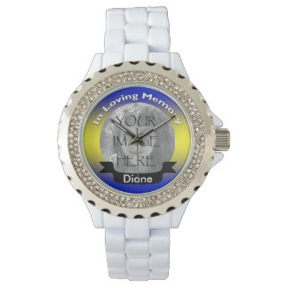Yellow and Blue Photo Memorial Watch