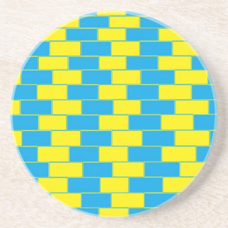 Yellow and Blue Psychedelic Coasters
