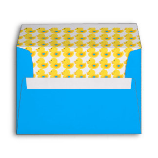 Yellow and Blue Rubber Ducky Pattern Envelope