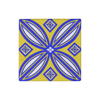 Yellow And Blue Spanish Marble Tile