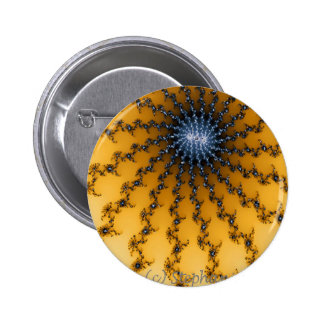Yellow and Blue Star 2 Inch Round Button