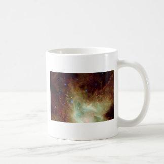 Yellow and Blue Star Cluster Coffee Mug