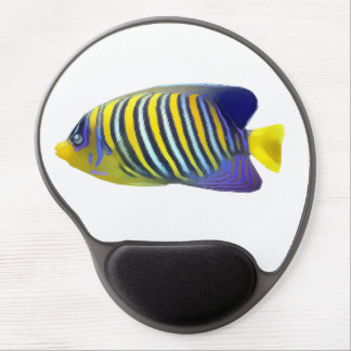 Yellow and Blue Stripe Tropical Fish Gel Mouse Pad