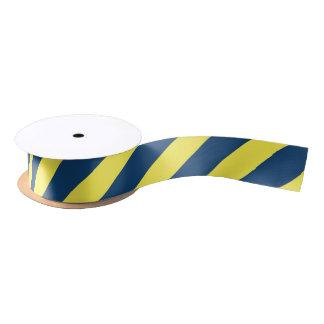 Yellow And Blue Striped Pattern Satin Ribbon