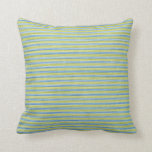 Yellow and Blue Stripes Pillows