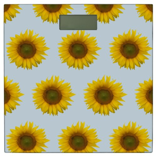 Yellow and Blue Sunflowers Bathroom Scale