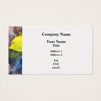 Yellow and Blue Tang Fish Business Card