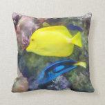 Yellow and Blue Tang Fish Pillow