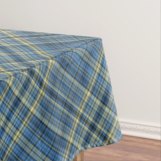 Yellow And Blue Tartan Pattern Tablecloth