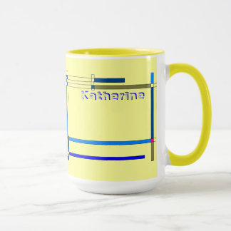 Yellow and Blue Tea Mug for Katherine