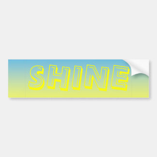 Yellow And Blue Two Tone Bumper Sticker