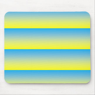 Yellow And Blue Two Tone Mouse Pad