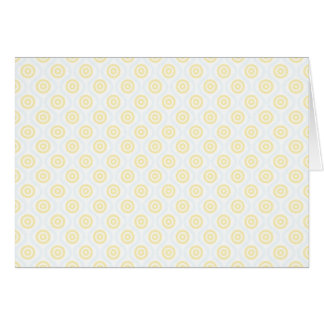 Yellow and Blue Undulation Greeting Card