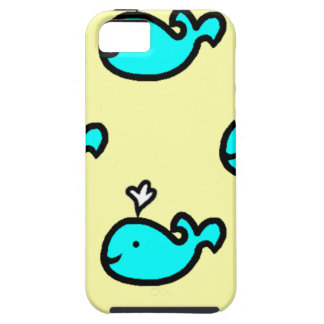 Yellow and blue whale case for IPhone 5