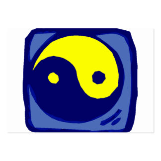 yellow and blue ying yang symbol business cards