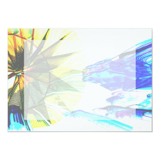 Yellow and Blue Zoomed Rides on White Abstract Announcement