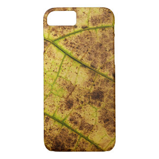 Yellow and Brown Dying Macro Leaf iPhone 8/7 Case
