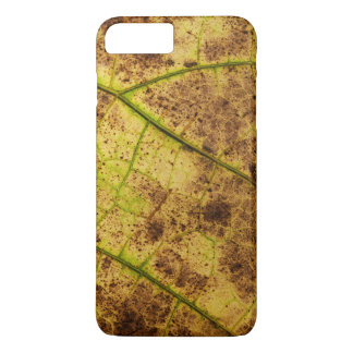 Yellow and Brown Dying Macro Leaf iPhone 8 Plus/7 Plus Case