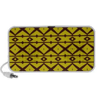 Yellow and Brown Elegant Modern Trellis Pattern Portable Speakers