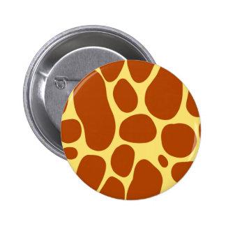 Yellow and Brown Giraffe Pattern Button