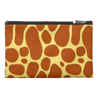 Yellow and Brown Giraffe Pattern Travel Accessory Bag