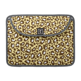 Yellow and Brown Leopard Spotted Animal Print MacBook Pro Sleeves