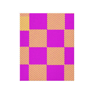 Yellow And Burgundy Squares Canvas Print