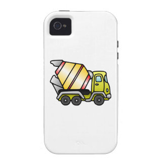 Yellow and Cement Mixer Vibe iPhone 4 Case