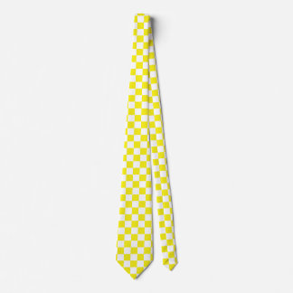Yellow and Change Background Color Neck Tie