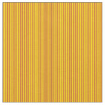 [ Thumbnail: Yellow and Chocolate Colored Lines Fabric ]