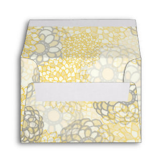 Yellow and Clay Flower Burst Design Envelope