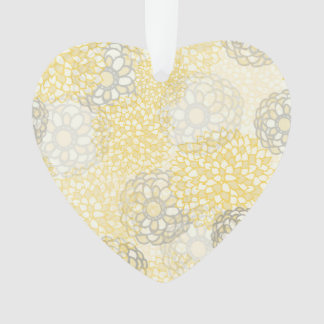 Yellow and Clay Flower Burst Design Ornament