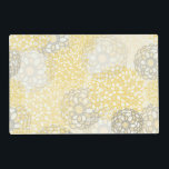 "Yellow and Clay Flower Burst Design Placemat<br><div class=""desc"">A pretty,  chic,  elegant,  stunning yellow and clay flower burst design,  great for anyone who loves flowers,  perfect on items for the home,  office,  and personal use.</div>"