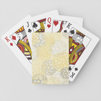 Yellow and Clay Flower Burst Design Playing Cards