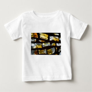 Yellow and clear stained glass close up photo tees