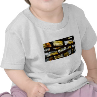 Yellow and clear stained glass close up photo t shirt