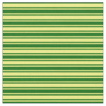 [ Thumbnail: Yellow and Dark Green Pattern of Stripes Fabric ]