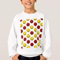 Yellow and Dark Red Basketball Pattern Sweatshirt