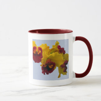 Yellow and Deep Red Orchids Mug