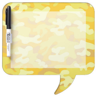 Yellow and Gold Camo Design Dry-Erase Board