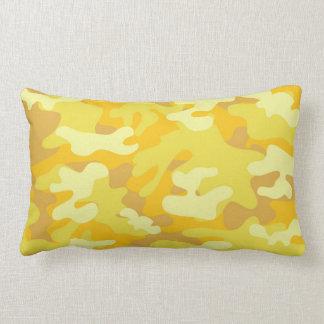 Yellow and Gold Camo Design Pillows