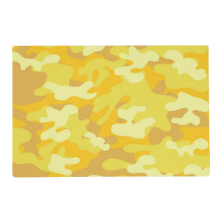 Yellow and Gold Camo Design Placemat
