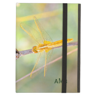 Yellow and Gold Colored Dragonfly iPad Air Case