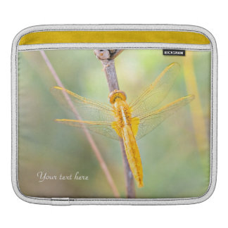 Yellow and Gold Dragonfly Sleeve For iPads
