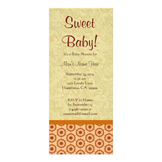 Yellow and Gold Flowers Neutral Baby Shower Announcement