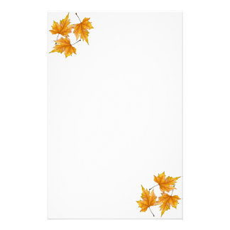 Yellow and gold maple leaves stationery