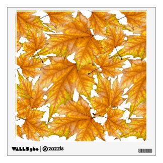 Yellow and gold maple leaves wall decal