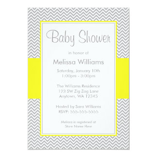 yellow baby shower invitations  announcements  zazzle, Baby shower invitations