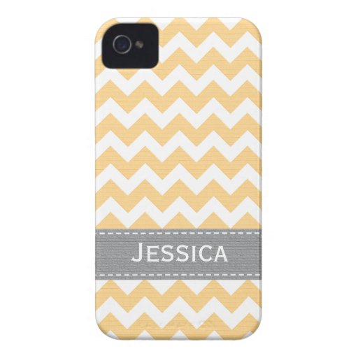 Yellow and Gray Chevron iPhone 4 / 4s Case-Mate Ca iPhone 4 Case-Mate Case
